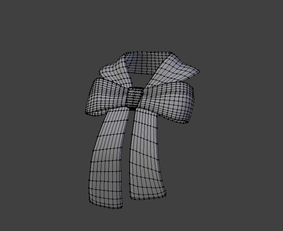 Bow Scarf royalty-free 3d model - Preview no. 3