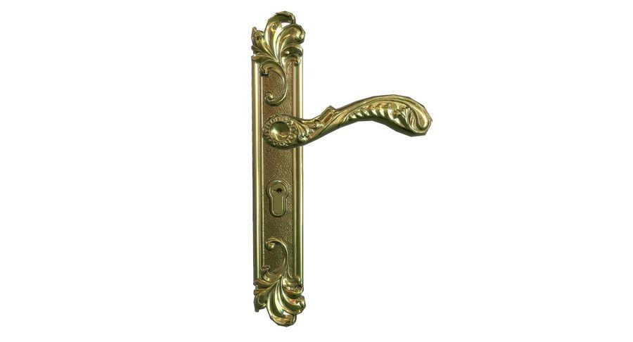 Classic door handle royalty-free 3d model - Preview no. 2