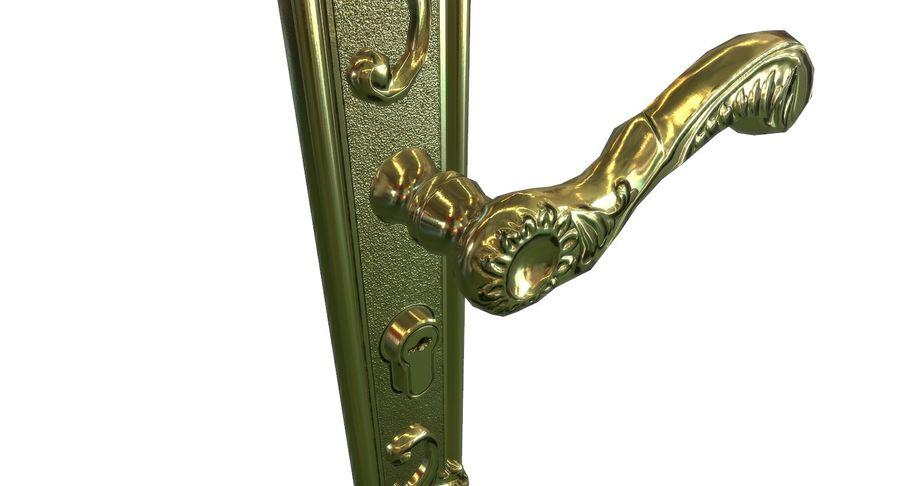 Classic door handle royalty-free 3d model - Preview no. 4
