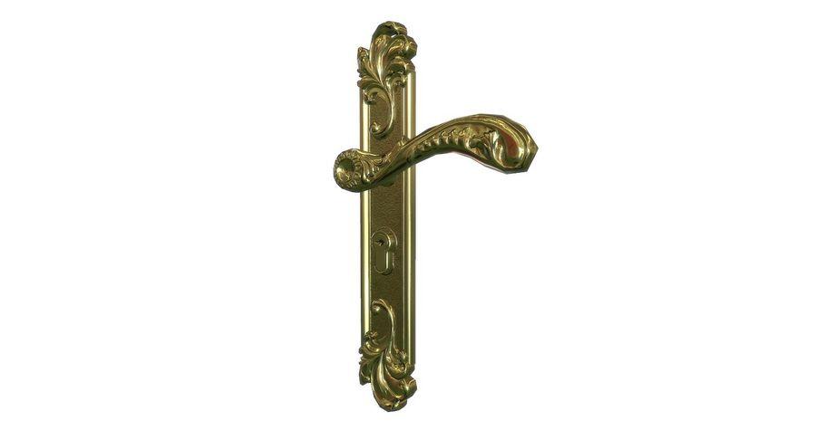 Classic door handle royalty-free 3d model - Preview no. 3