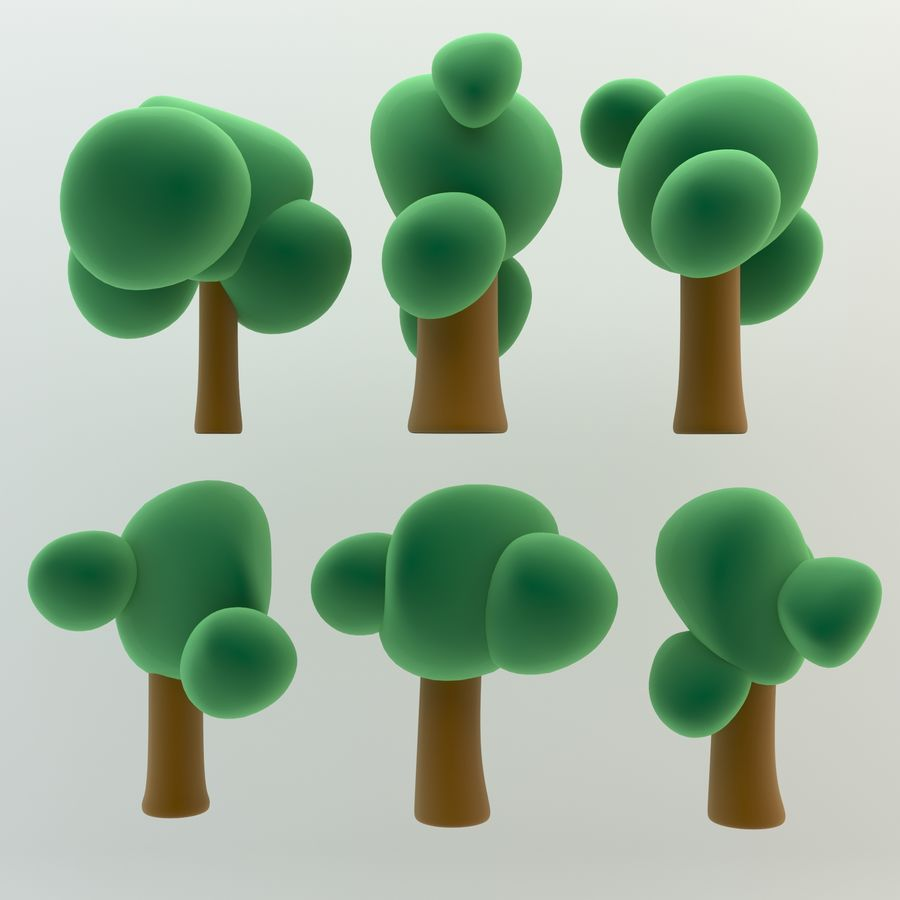 Cartoon Trees And Forest Pack 4 Simple And Beautiful High Quality 3d Model 9 Max Obj Fbx Dxf 3ds Unknown Free3d Each on a separate layer. cartoon trees and forest pack 4