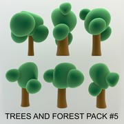 Cartoon Trees and forest pack # 4 (Простое и красивое высокое качество) 3d model
