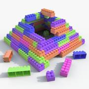 プラスチックブロックグッズ01 3d model