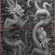 Chinese dragon LONG Relief s2 3d model