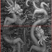 Dragon chinois LONG Relief s2 3d model