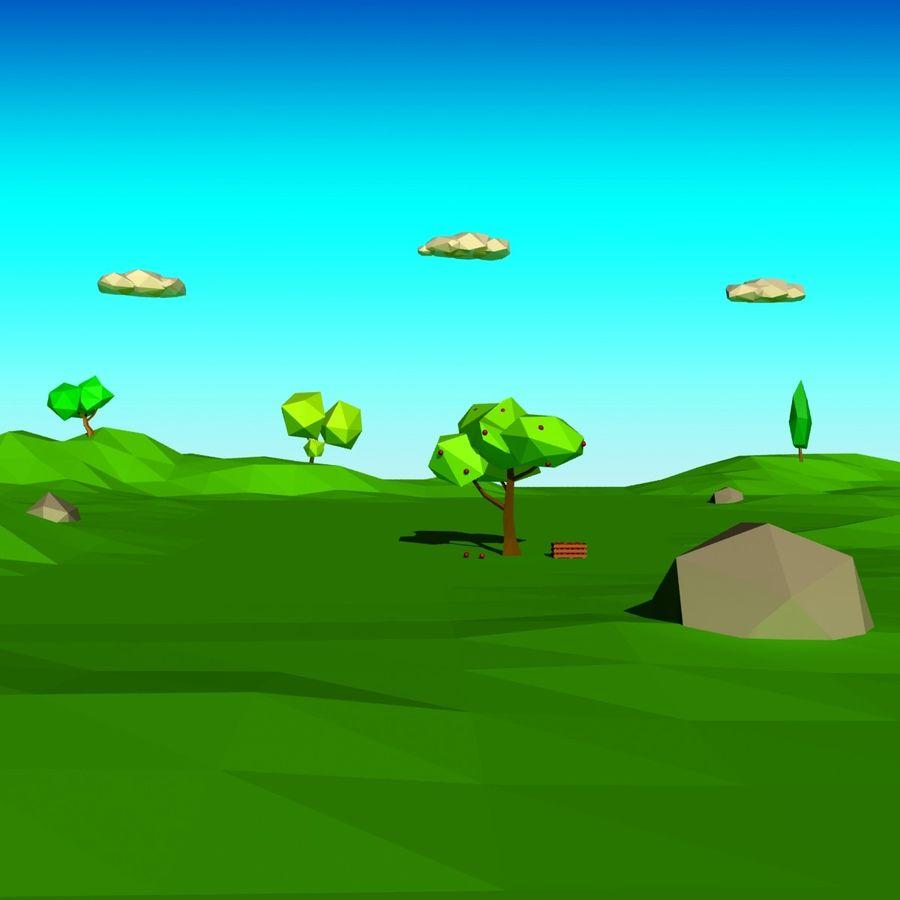 Cartoon laag poly minimalistische scène royalty-free 3d model - Preview no. 17