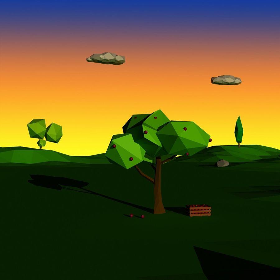 Cartoon laag poly minimalistische scène royalty-free 3d model - Preview no. 11