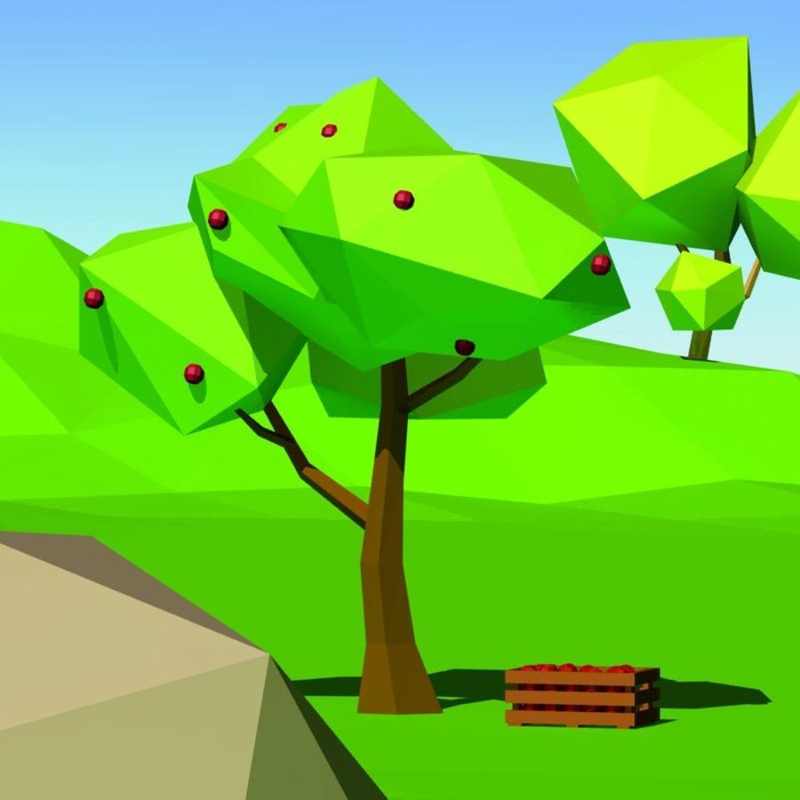 Cartoon laag poly minimalistische scène royalty-free 3d model - Preview no. 8