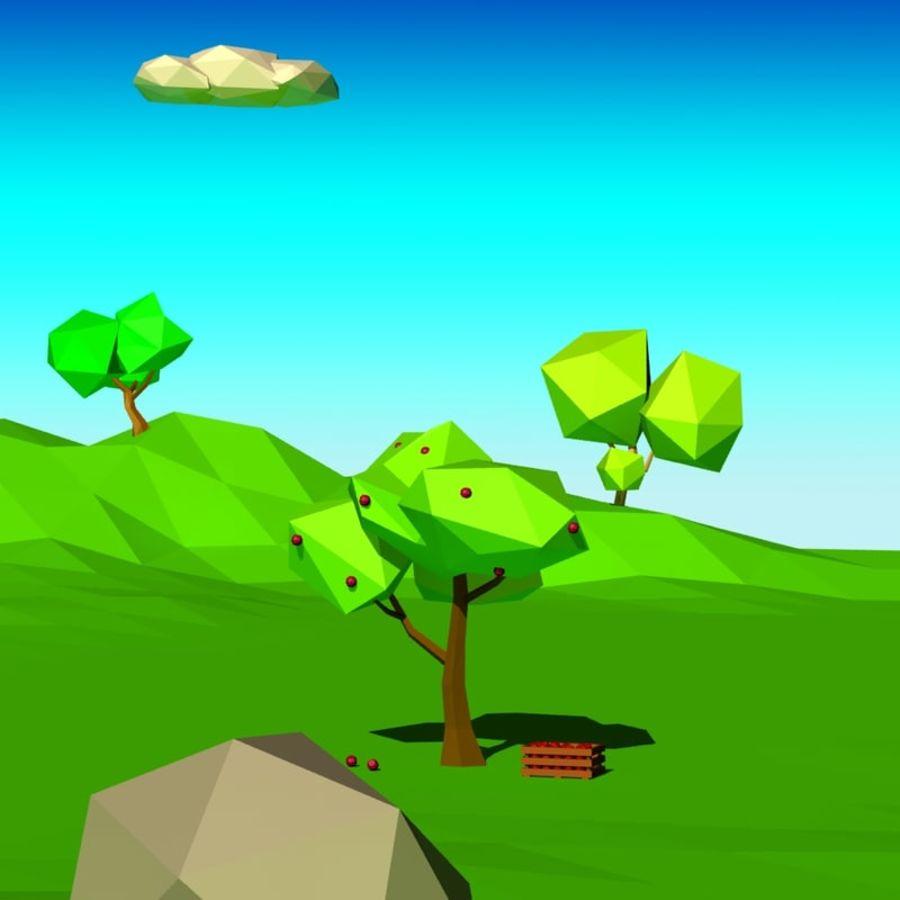Cartoon laag poly minimalistische scène royalty-free 3d model - Preview no. 6