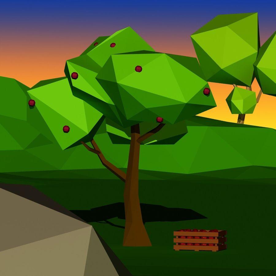 Cartoon laag poly minimalistische scène royalty-free 3d model - Preview no. 13