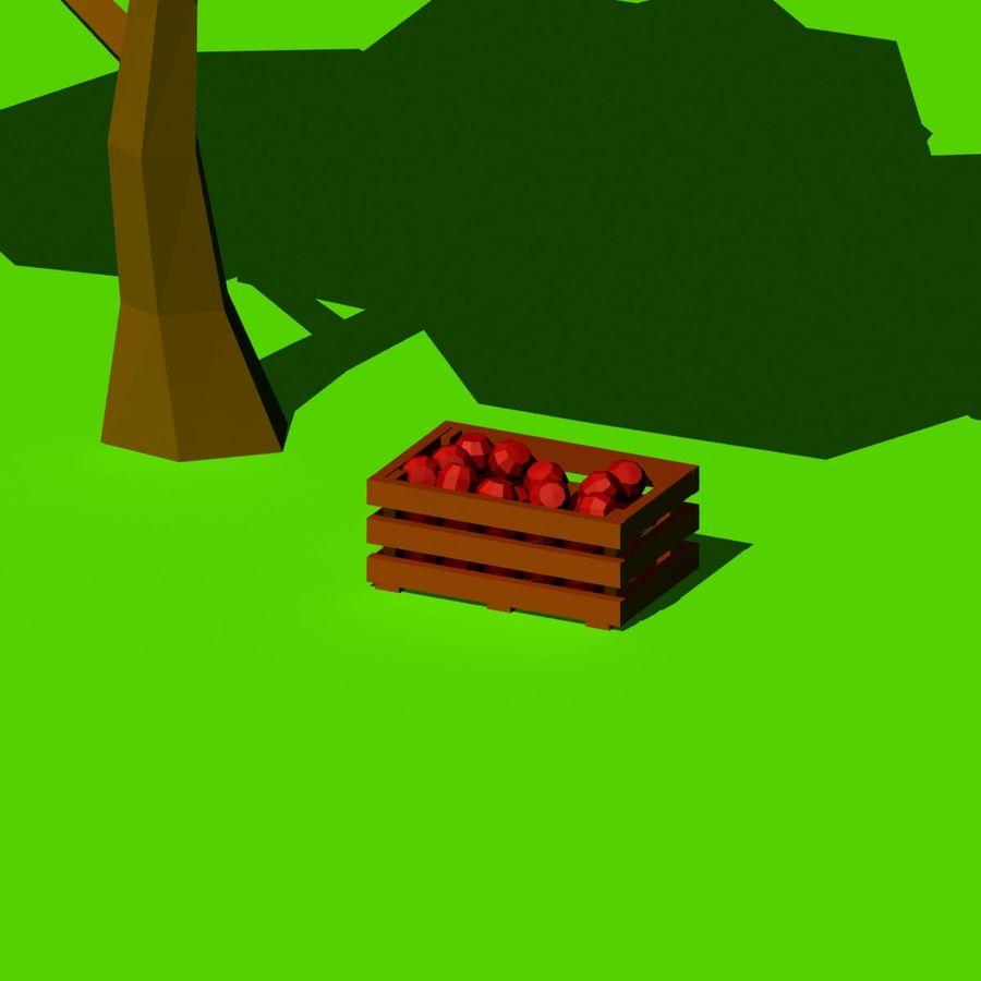 Cartoon laag poly minimalistische scène royalty-free 3d model - Preview no. 18