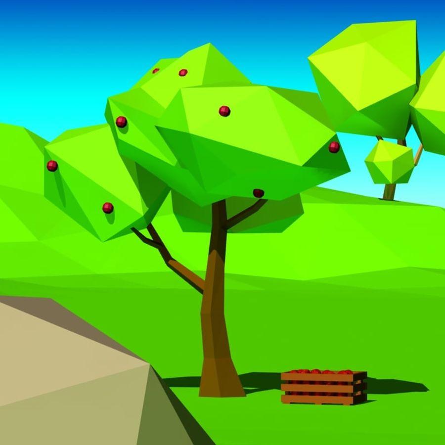 Cartoon laag poly minimalistische scène royalty-free 3d model - Preview no. 7