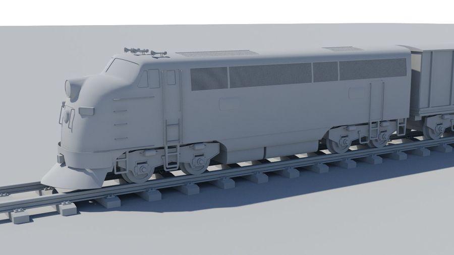 Treno merci royalty-free 3d model - Preview no. 4