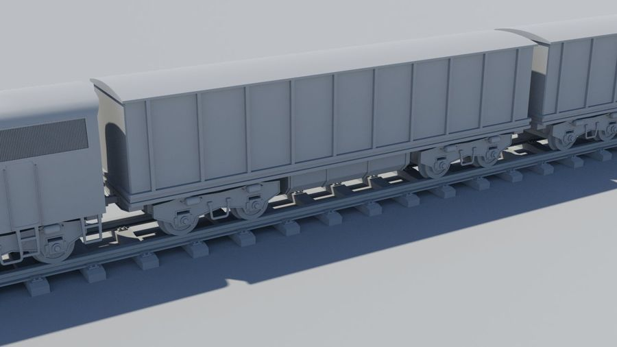 Treno merci royalty-free 3d model - Preview no. 5