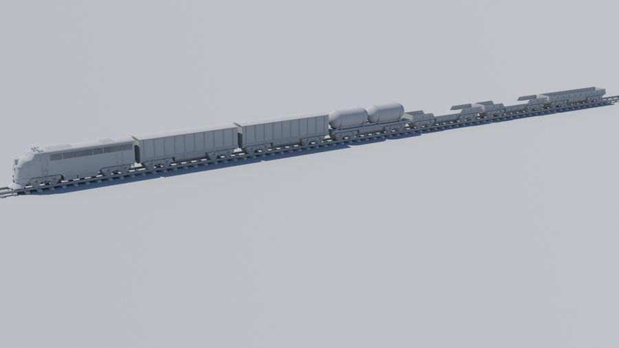 Tren de carga royalty-free modelo 3d - Preview no. 3