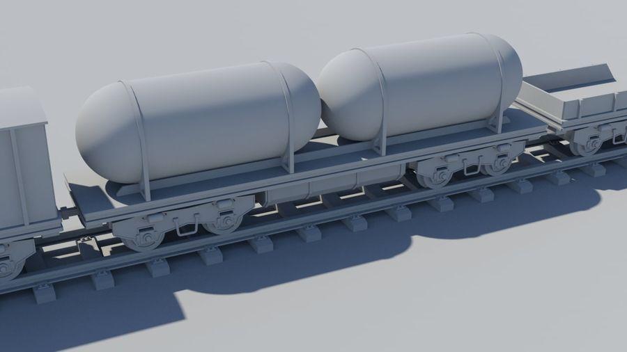 Treno merci royalty-free 3d model - Preview no. 6