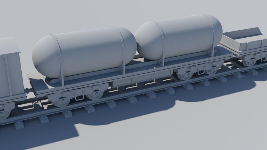 Tren de carga royalty-free modelo 3d - Preview no. 6