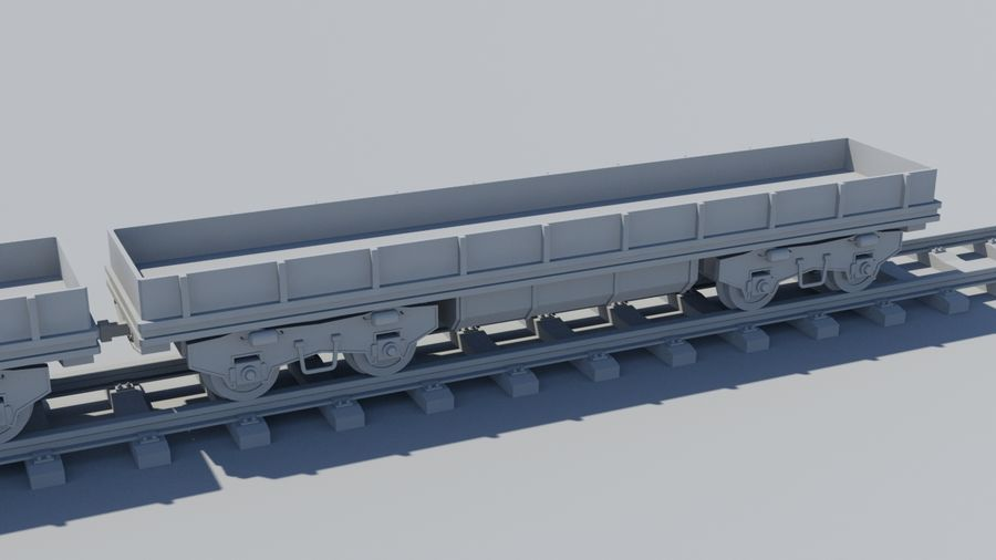Tren de carga royalty-free modelo 3d - Preview no. 8