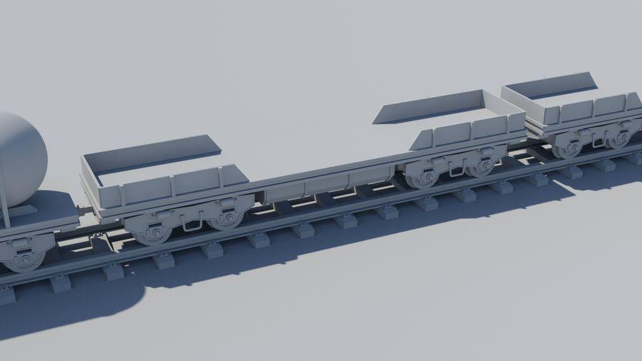 Tren de carga royalty-free modelo 3d - Preview no. 7