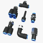 Pnömatik Boru Ek Parçaları 3d model