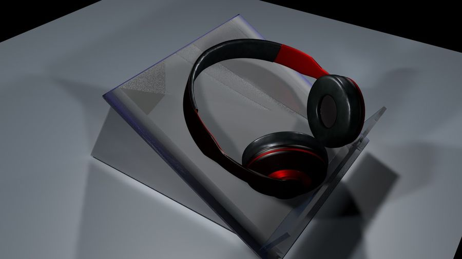 headphones royalty-free 3d model - Preview no. 1
