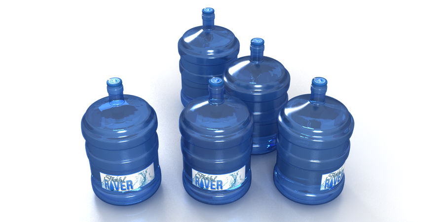 Water refill bottle container royalty-free 3d model - Preview no. 7