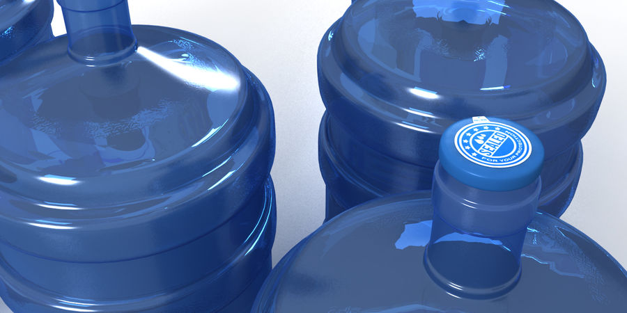 Water refill bottle container royalty-free 3d model - Preview no. 4