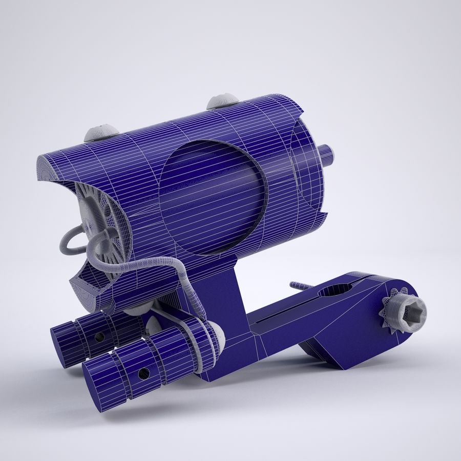 Rotary Tattoo Machine royalty-free 3d model - Preview no. 7