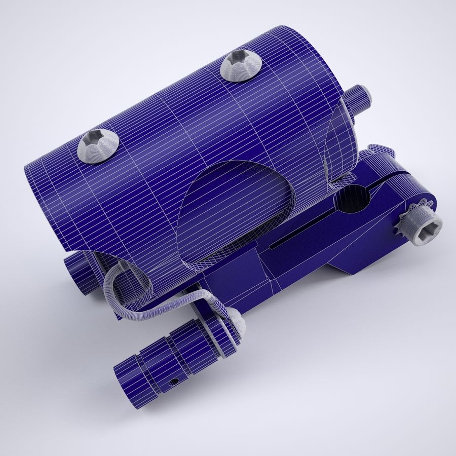 Rotary Tattoo Machine royalty-free 3d model - Preview no. 9