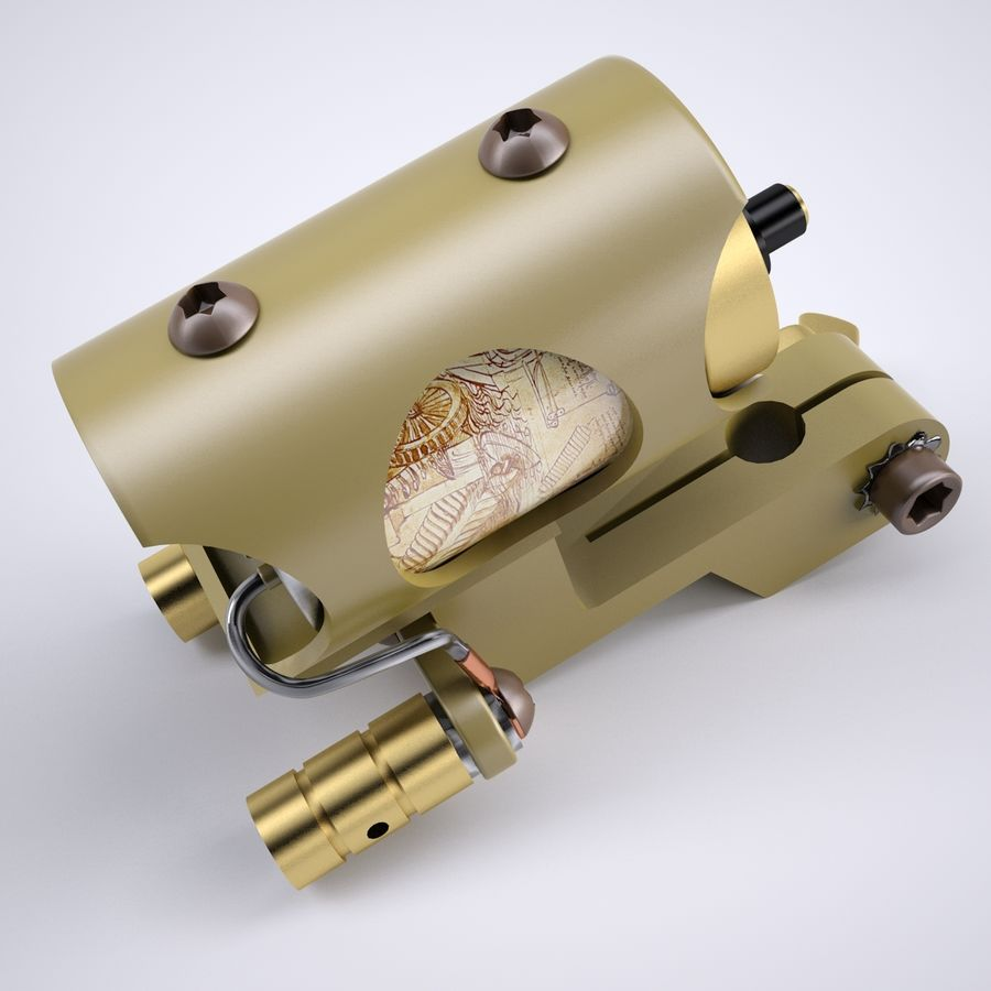 Rotary Tattoo Machine royalty-free 3d model - Preview no. 4