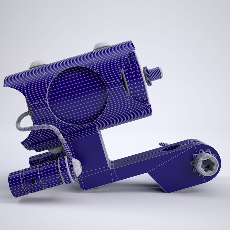 Rotary Tattoo Machine royalty-free 3d model - Preview no. 6