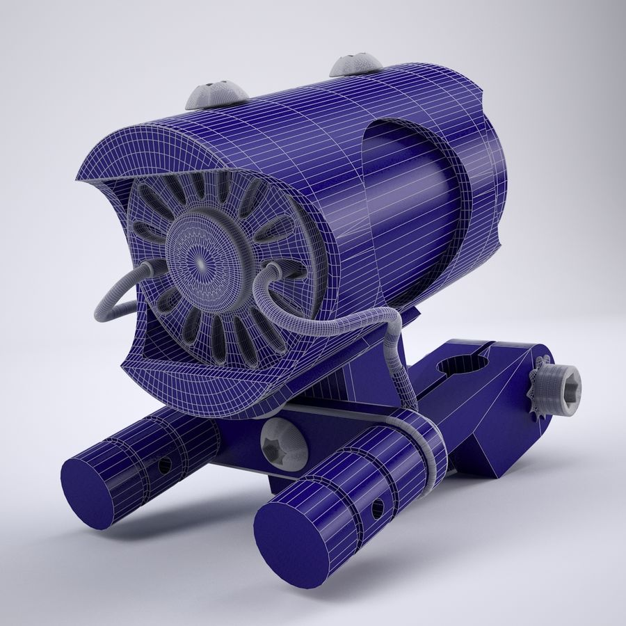 Rotary Tattoo Machine royalty-free 3d model - Preview no. 8