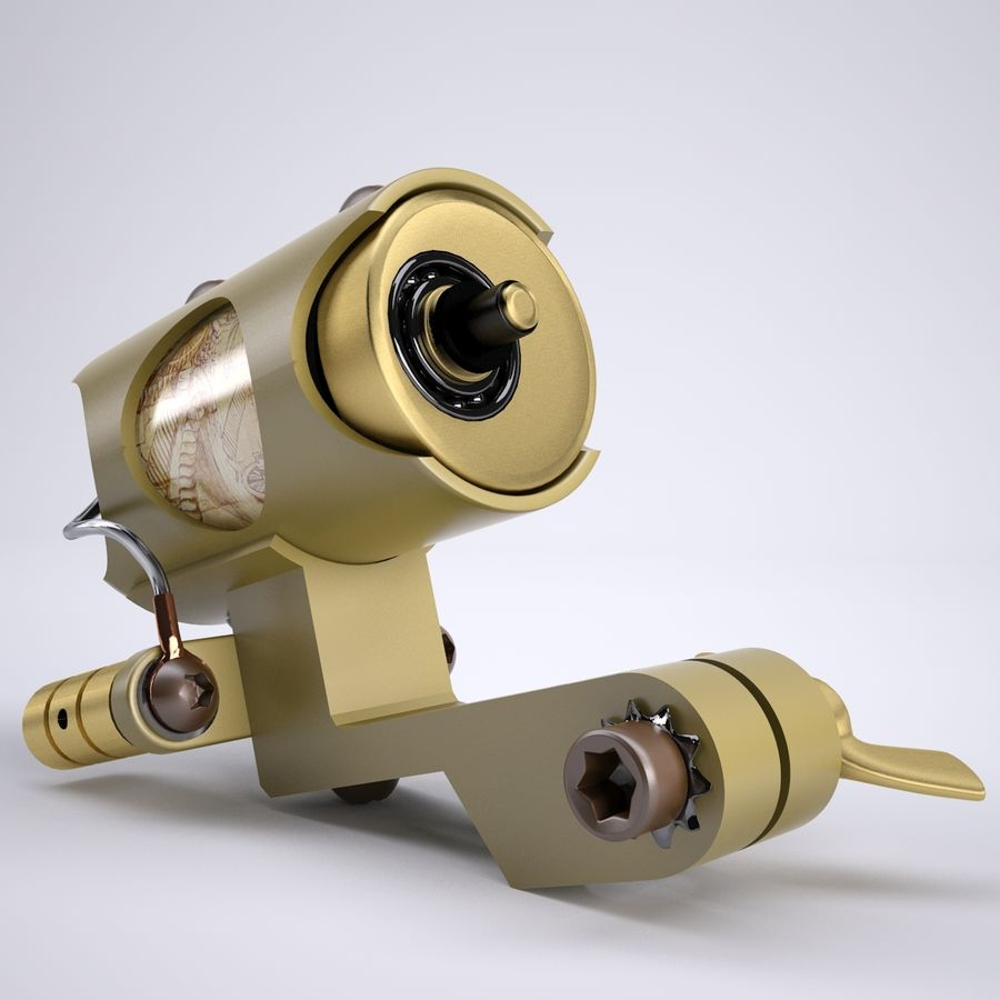 Rotary Tattoo Machine royalty-free 3d model - Preview no. 2