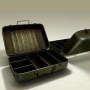 Militär metalllåda 3d model