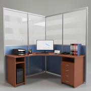 Arbeitsplatz im Büro 3d model