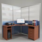Posto di lavoro in ufficio 3d model