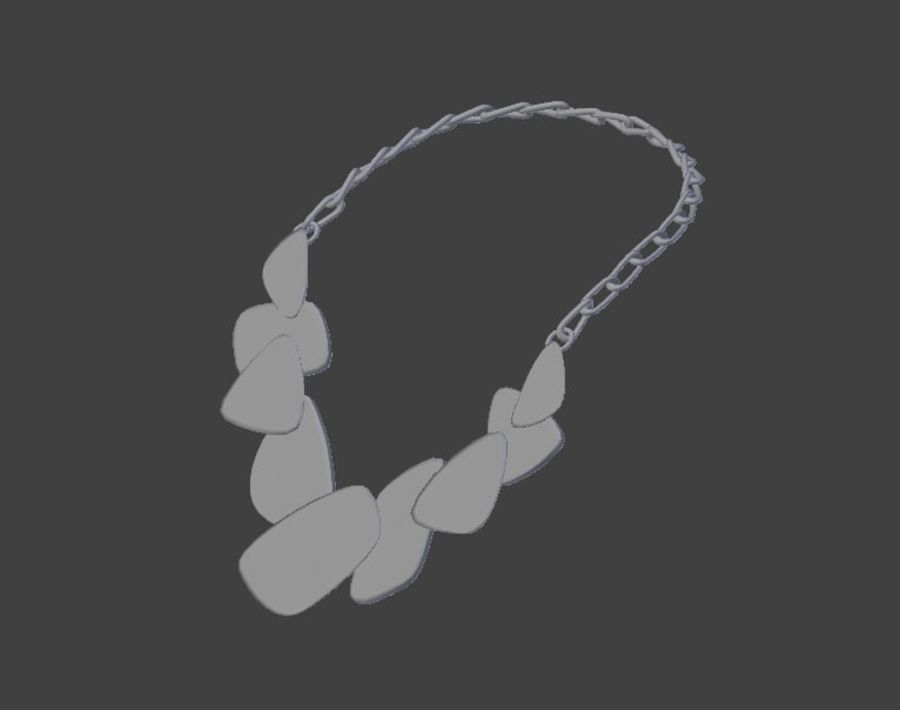 Necklace royalty-free 3d model - Preview no. 2