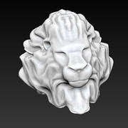 lion head bust 3d model