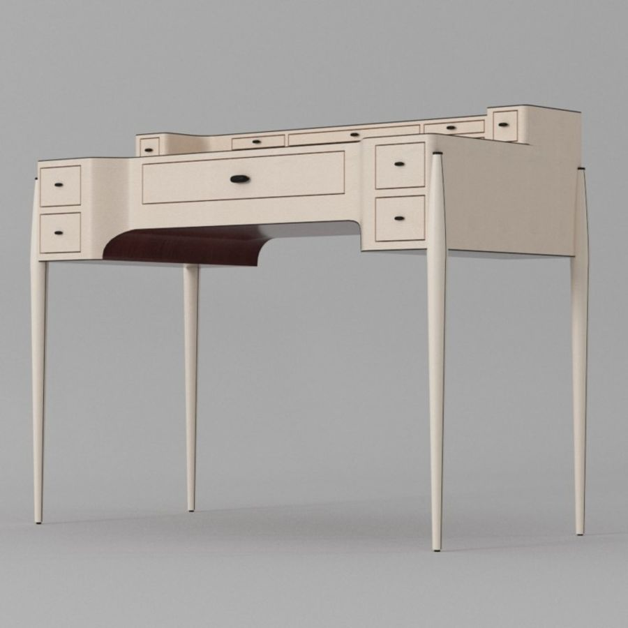 Desk Bureau & Dressing TEACH royalty-free 3d model - Preview no. 8