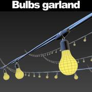 Guirnalda de bombillas modelo 3d