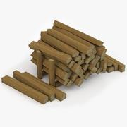 Wood Beams v2 3d model