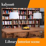 Bibliotekets interiör 3d model