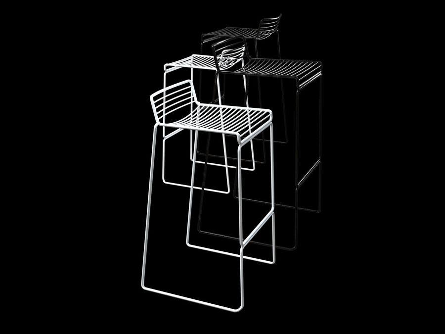 HAY-Hee-Bar-Stołek royalty-free 3d model - Preview no. 3