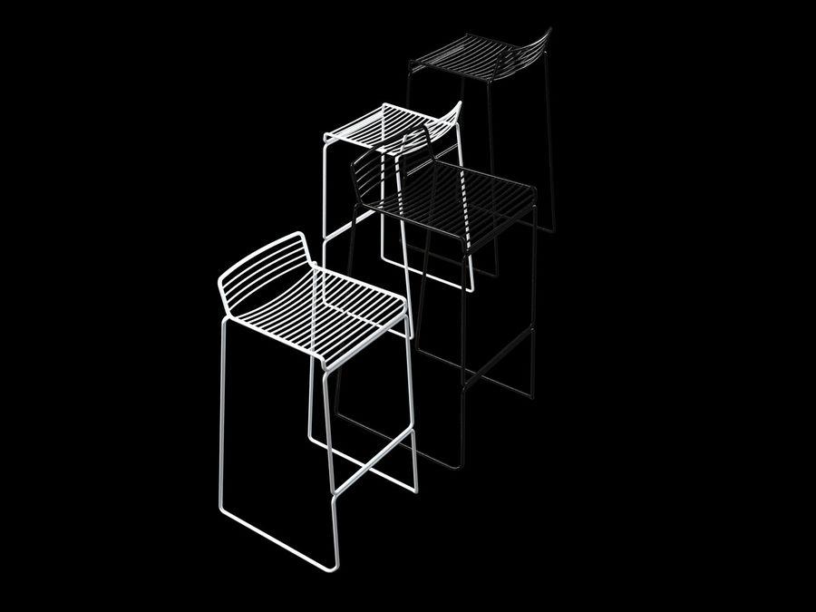 HAY-Hee-Bar-Stołek royalty-free 3d model - Preview no. 8