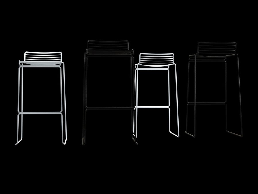 HAY-Hee-Bar-Stołek royalty-free 3d model - Preview no. 6