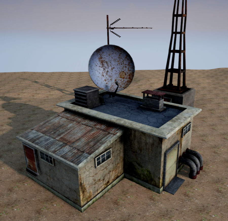 Radio station royalty-free 3d model - Preview no. 5