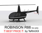 Robinson R66 BLACK 3d model