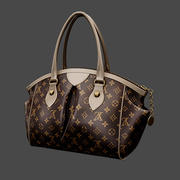 Brown Handbag 3d model