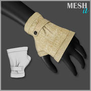 Fingerless Gloves 3d model