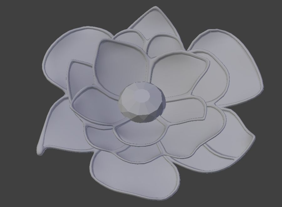 Flower Decoration royalty-free 3d model - Preview no. 2